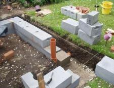 Бетонний блок в будівництві фундаменту
