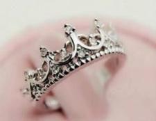 Кільце у вигляді корони. Золоті, срібні кільця