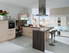 Кухня з барною стійкою кутова: дизайн, фото