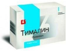 Лікарський засіб «тималин»: інструкція із застосування і опис