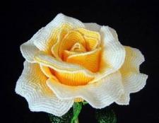 Майстер-клас: троянди з бісеру. Як зробити троянду з бісеру