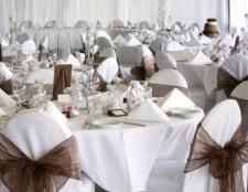 Оформлення столу нареченого і нареченої. Оформлення столів весільних