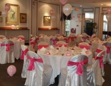Оформлення весільного залу: ідеї