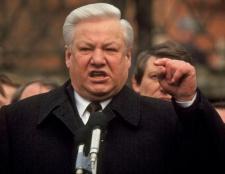 Президент єльцин: роки правління і результати