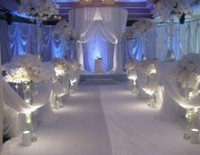 Весільне прикраса столу. Прикраса столу нареченого і нареченої: майстер-клас, фото