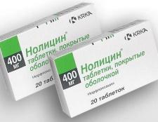 Таблетки «нолицин»: інструкція із застосування