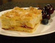 """Закусочний торт """"наполеон"""": покроковий рецепт"""