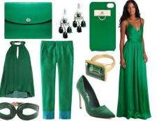 Зелений колір з яким кольором поєднується в одязі?